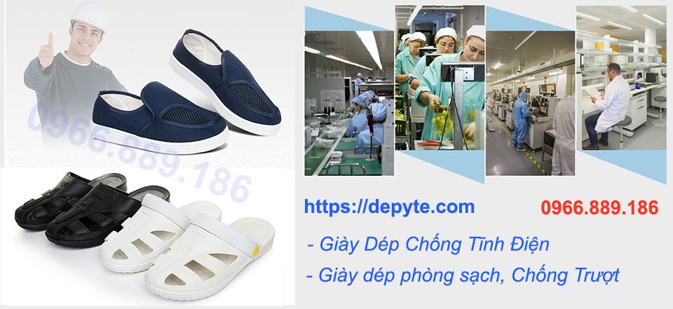 Giày dép chống tĩnh điện, dép phòng sạch chống trơn trượt chất lượng cao