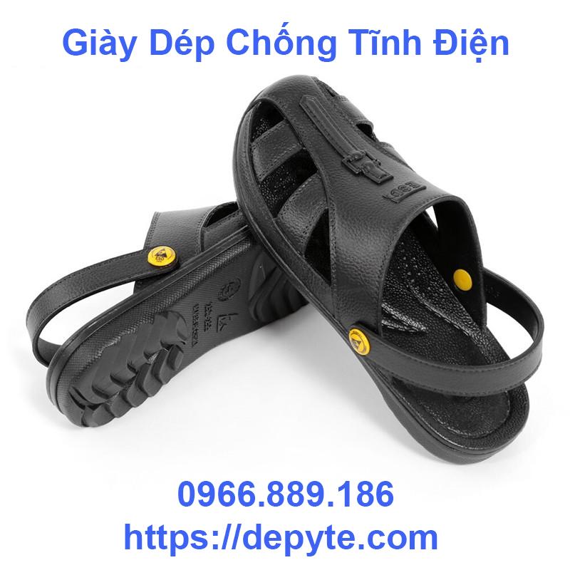 Bán chống tĩnh bụi sạch dép xưởng nam và nữ nhà dép mùa hè đen thở công tác bảo vệ giày