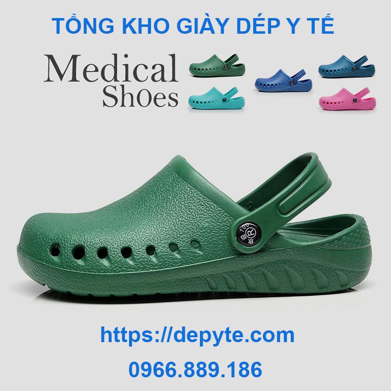 Dép đi trong nhà chống trượt - giày y khoa dành cho nam và nữ - Giày phẫu thuật chất lượng cao - Crocs- dép y tế có quai, có lỗ thoáng khí dùng trong y khoa