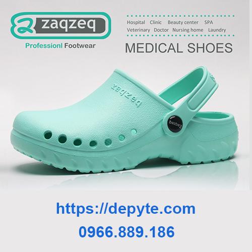 Dép y tế chính hãng dép ZaqZeq -Giày dép y tế bệnh viện, phòng khám, nhà hàng, spa - Giày dép phẫu thuật có lỗ thoáng khí, có quai -  Dép phòng thí nghiệm, Giày dép phòng mổ- Giày y khoa cho nhân viên y tế