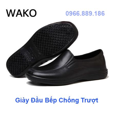 Wako giày siêu đầu bếp trượt giày an toàn mặc dầu không thấm nước đặc biệt bếp khách sạn giày công việc