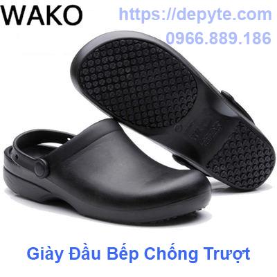 Wako trượt g đầu bếp giày mùa hè giày giày nhẹ chống trượt an toàn làm việc giày đầu bếp nhà bếp dép giày thở