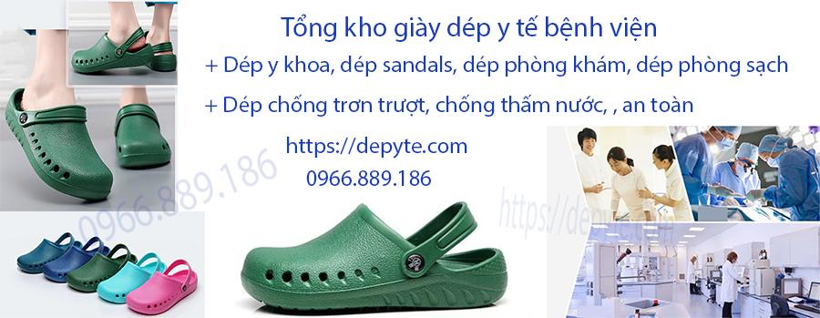 Dép y tế có quai, dép sandals bệnh viện phòng khám, dép chống trơn trượt, chống thấm nước, thoải mái trong quá trình làm việc