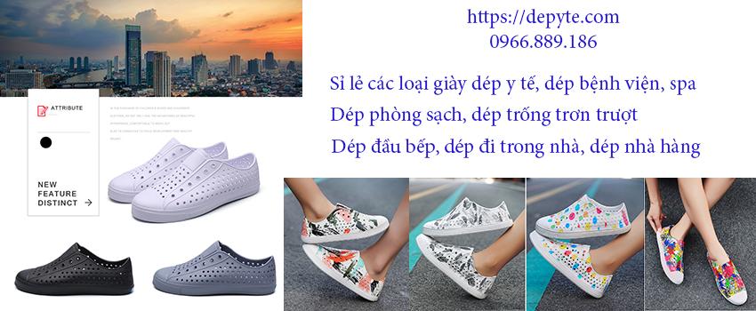 Giày y tế, dép y tế, giày dép nhựa eva có lỗ thoáng khí, giày dép đi mưa, giày chống trơn trượt với thiết kế giày siêu nhẹ dễ mang và tiện di chuyển