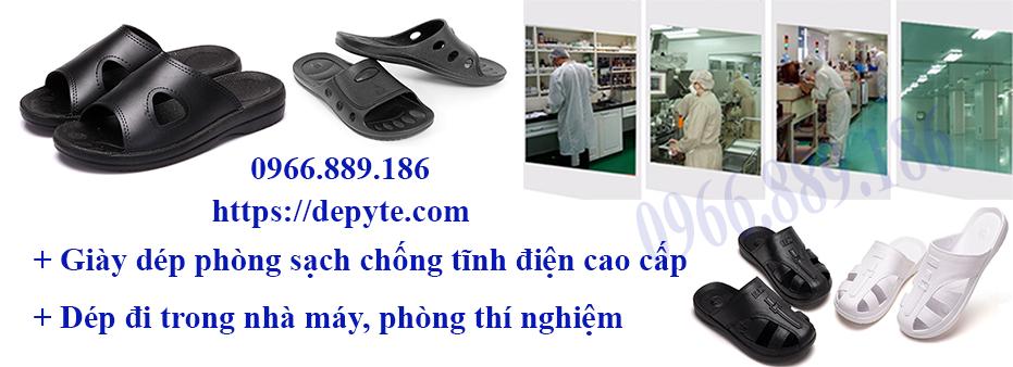 Dép đi trong phòng thí nghiệm, dép phòng sạch, dép ESD, chất lượng cao, giày bảo hộ không bụi, không trơn trượt, chống tĩnh điện cao