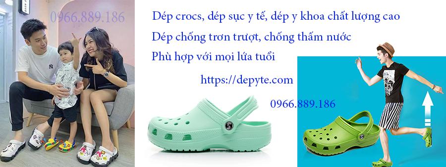 Dép crocs, dép sục y tế, dép quai ngang chất lượng cao, sử dụng trong bệnh viện, phòng khám, chống trơn trượt, mang lại cảm giác thoải mái khi sử dụng