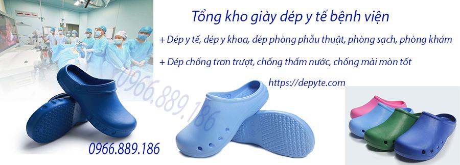 Dép bệnh viện, dép phòng khám, dép chống trơn trượt chất lượng cao, có khả năng bảo vệ bàn chân khỏi va đập với môi trường bên ngoài